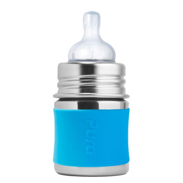 Pura nerezová dojčenská fľaša 150ml / Aqua