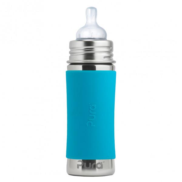 Pura nerezová dojčenská fľaša 325ml / Aqua