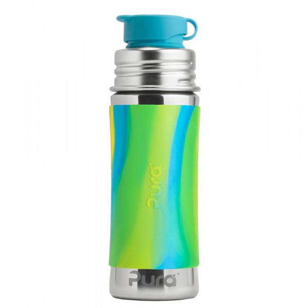 Pura nerezová fľaša so športovým uzáverom 325ml / Zelená-aqua