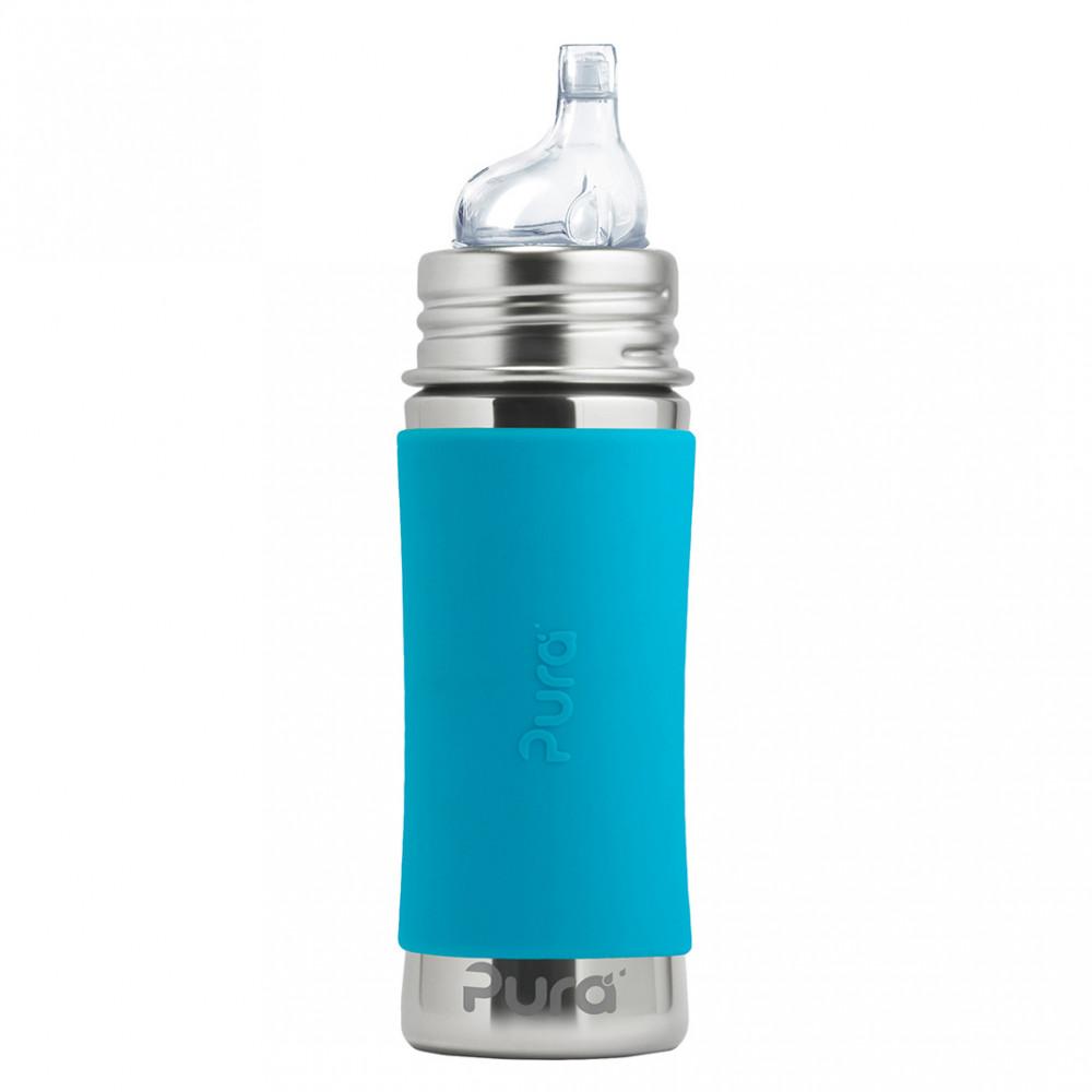 Pura nerezová fľaša s náustkom 325ml / Aqua