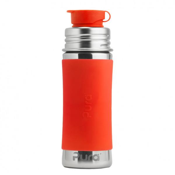 Pura nerezová fľaša so športovým uzáverom 325ml / Oranžová