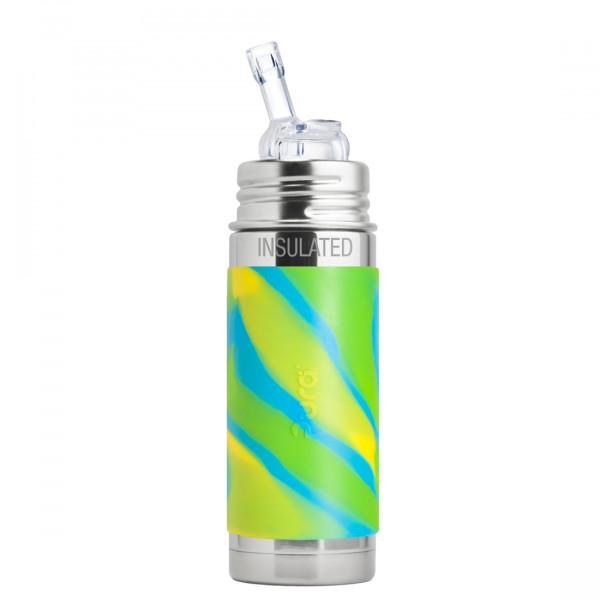 Pura TERMO fľaša so slamkou 260ml / Zelená-aqua
