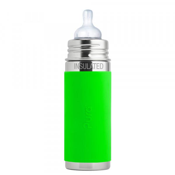 Pura TERMO dojčenská fľaša 260ml / Zelená