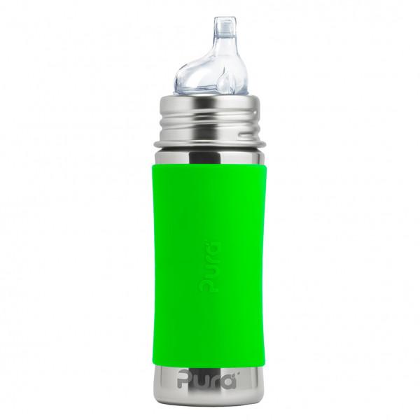 Pura nerezová fľaša s náustkom 325ml / Zelená