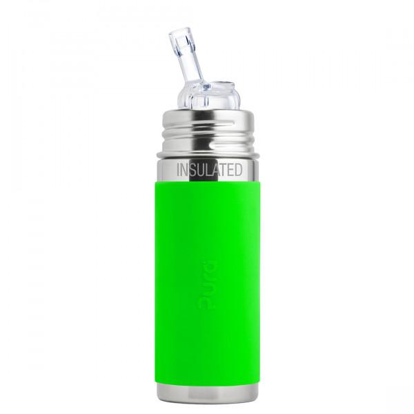 Pura TERMO fľaša so slamkou 260ml / Zelená