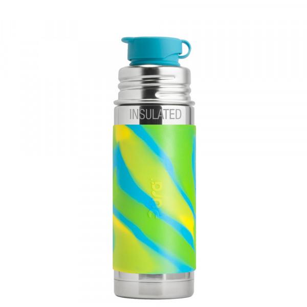 Pura TERMO fľaša so športovým uzáverom 260ml / Zelená-aqua