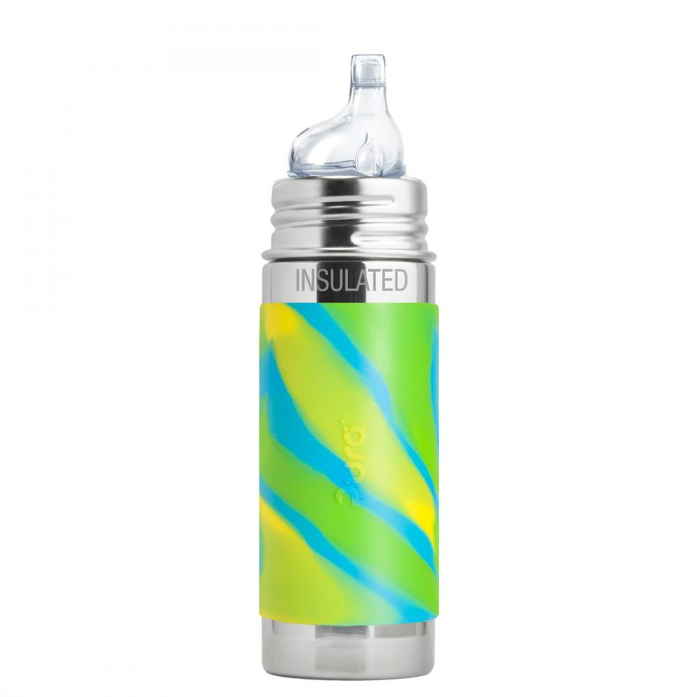 Pura TERMO fľaša s náustkom 260ml / Zelená-aqua