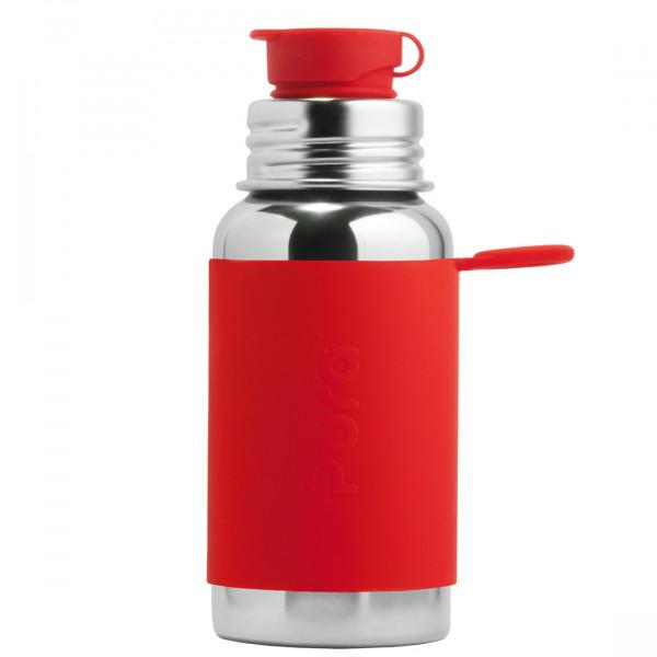 Pura nerezová fľaša so športovým uzáverom 550ml / červená