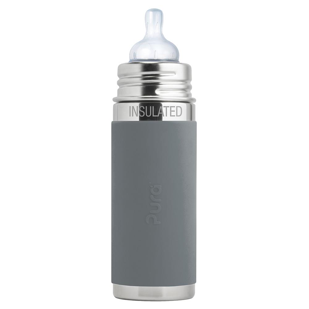 Pura TERMO dojčenská fľaša 260ml / Sivá