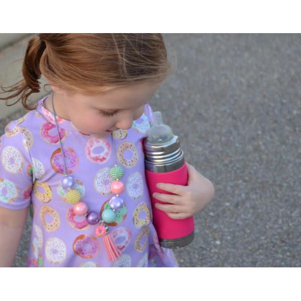 Pura TERMO dojčenská fľaša 260ml / Ružovo-biela