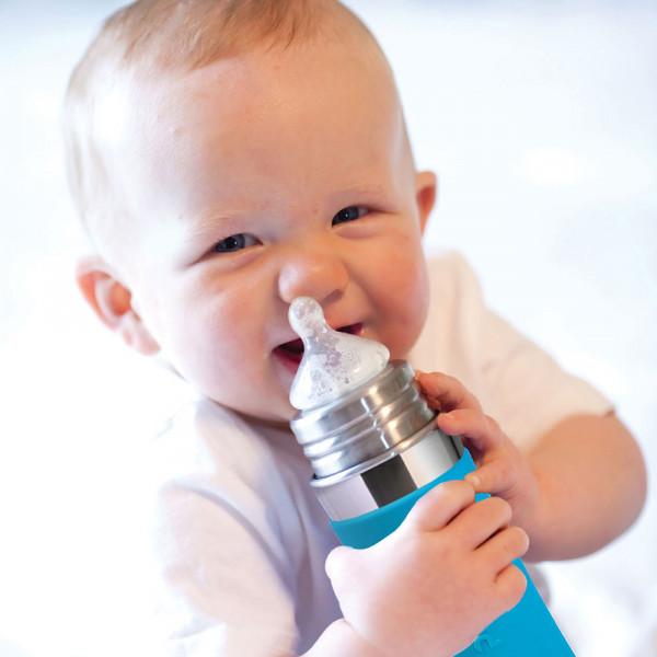 Pura nerezová dojčenská fľaša 325ml / Sivá