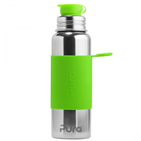 Pura nerezová fľaša so športovým uzáverom 850ml / Zelená