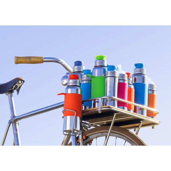 Pura nerezová fľaša so športovým uzáverom 550ml / Ružovo-biela