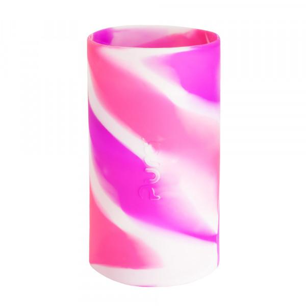 Pura silikónový návlek na fľašu - 260ml, 325ml / Ružovo-biela