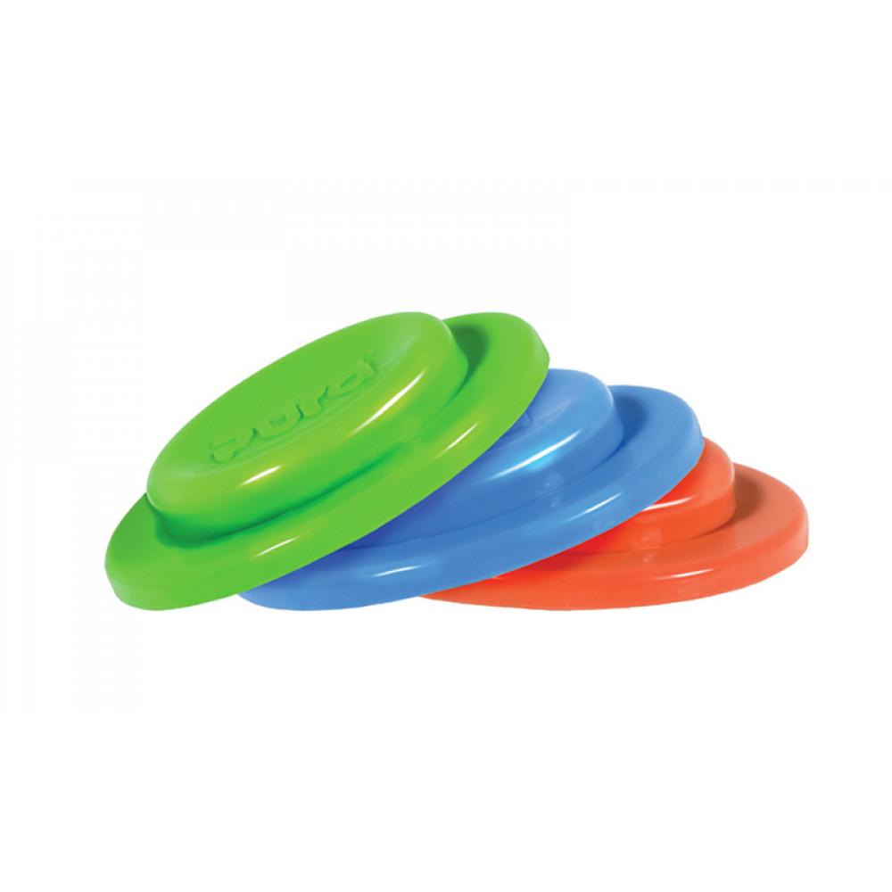 Pura silikónové tesniace disky 3ks / Zelená+modrá+červená