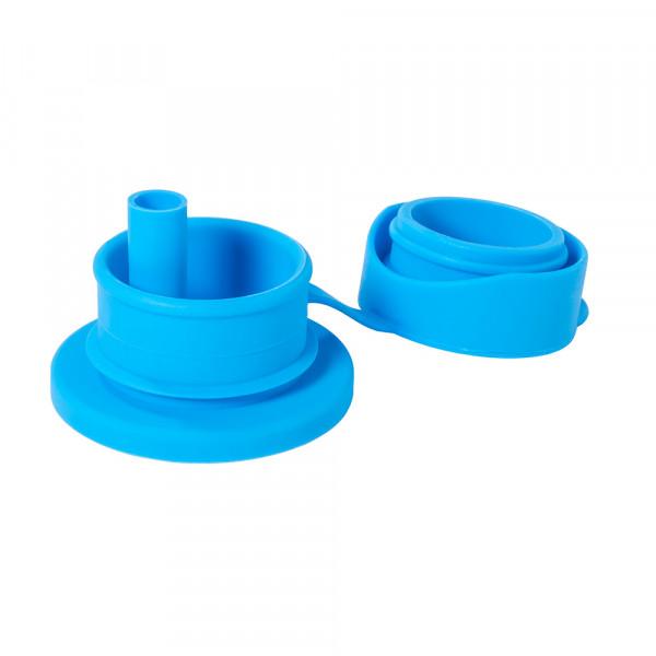 Pura silikónový športový uzáver so slamkou / Aqua