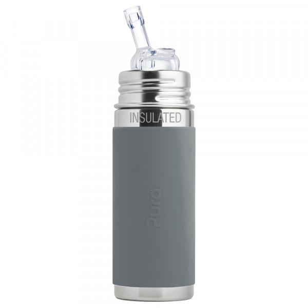 Pura TERMO fľaša so slamkou 260ml / Sivá