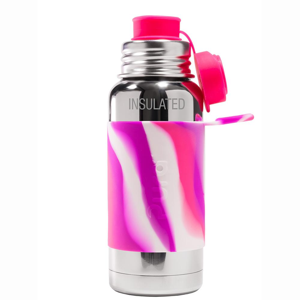 Pura TERMO fľaša so športovým uzáverom 475ml / Ružovo-biela