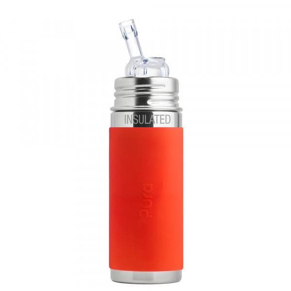 Pura TERMO fľaša so slamkou 260ml / Oranžová
