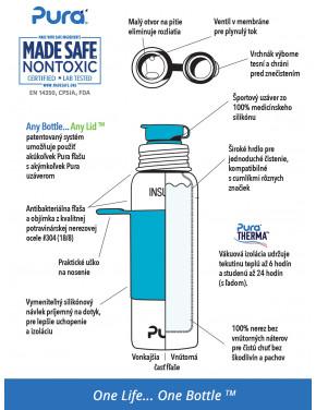 Pura TERMO fľaša so športovým uzáverom 650ml / Aqua