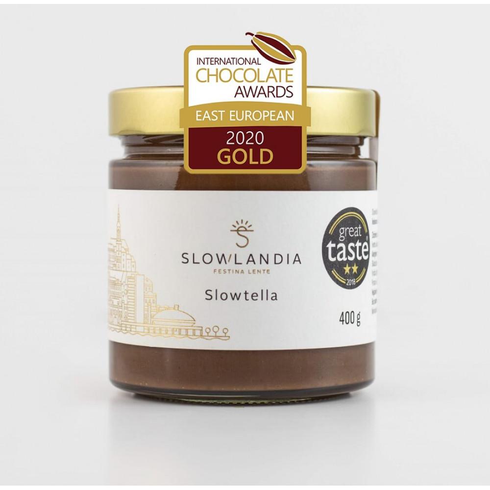 Slowtella – Lieskovcovo-kakaový krém 400g