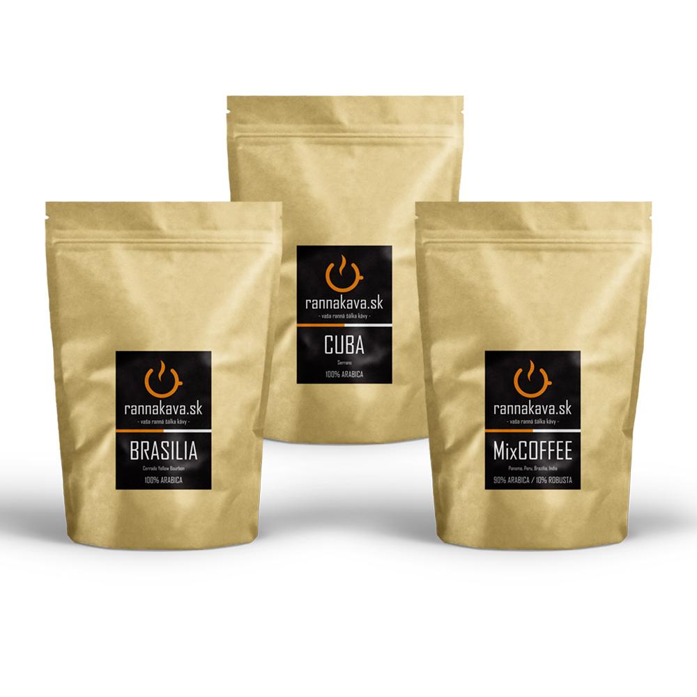 Degustácia káv rôznych druhov / 3x125g
